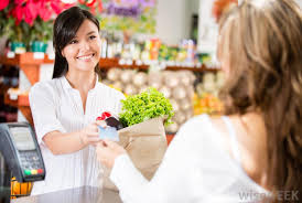 what does a customer service cashier do with pictures