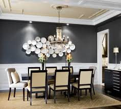 wall chair dining room traditional with grey wall wall art crystal