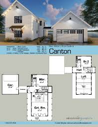 Contemporary Farmhouse Floor Plans Canton Breezeway Modern Farmhouse And Car Garage