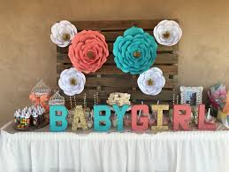 mint and peach baby shower baby shower ideas pinterest