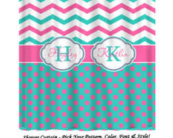 Pink And White Chevron Curtains Home Decor U0026 Personalized Gifts Monogrammed By Pamperyourstyle
