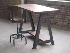Industrial Standing Desk by Statim Industrial Standing Desk With Steel Tubing By Refabwood
