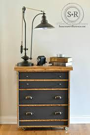 ikea rast hack industrial nightstand trim wood charcoal gray