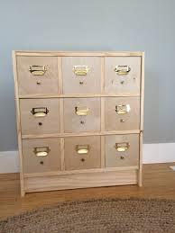 apothecary drawers ikea diy card catalog from ikea rast u2013 shirley u0026 chris projects blog