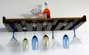 wood wine rack wall mount that perfect for dining room or kitchen