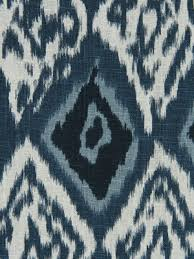 navy blue ikat upholstery fabric indigo ikat linen curtain