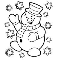 christmas snowman free coloring pages art coloring pages