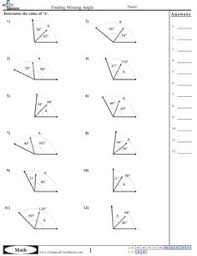 finding missing angles worksheet math pinterest angles