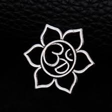 Lotus Flower With Om Symbol - online buy wholesale om charms from china om charms wholesalers