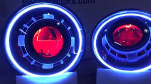 jeep wrangler blue headlights jeep wrangler jk jku hid projector headlights with white halos and