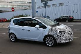 opel meriva 2014 spied opel placing the final touches on facelifted meriva