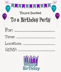 Invitation Birthday Party Card Birthday Invitations Lilbibby Com