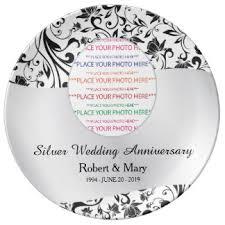 25th wedding anniversary plate custom wedding anniversary porcelain plates