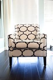 Blackandwhite Striped Encore Wingback Chair  Available - Black and white chairs living room