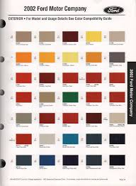 ford focus colour code paint chips 2002 ford mustang