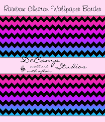Wallpaper Borders For Girls Bedroom Rainbow Chevron Wallpaper Border Wall Decals Teen Girls Room 380