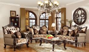 610 catania traditional living room set in dark cherry by meridian
