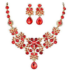 red fashion necklace images Red jewelry jpg