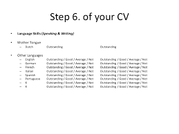 Resume Language Skills Sample by Courtesy Masters Cv Example Create Your Effective Personal Cv