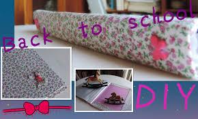 como forrar un cuaderno con tela youtube diy carpeta de tela vintage back to school youtube