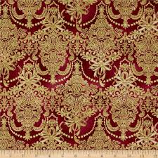 holiday flourish metallic damask cranberry accent colors