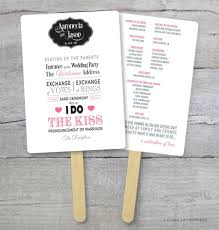 kraft paper wedding programs diy wedding program fan kit order of service fan wedding