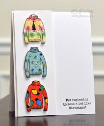 crazy christmas sweater card by ribbongirls using the tis the