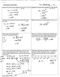 Math Review Worksheets Unit 1 Sequences And Series Mr Roos Hempstead High Math