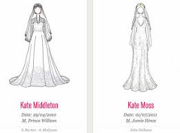 artist draws every iconic celebrity wedding dress ever u2014see the