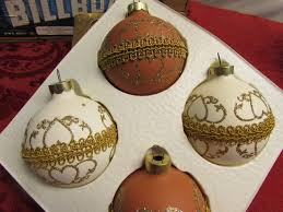 Victorian Christmas Ornaments - lot detail retro wooden crate full of victorian christmas ornaments