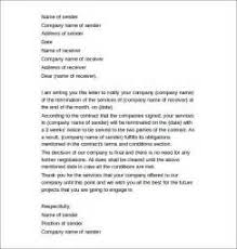 termination of employment contract sample letter uk sample