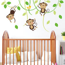three monkeys on swings wall sticker decal u2013 sirface graphics