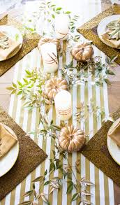 20 beautiful tables that define thanksgiving goals copper spray