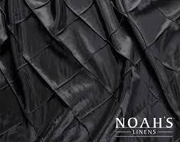 renting linens noah s linens black 024 pintuck linens