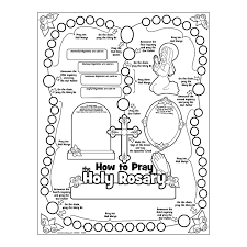 rosary for kids rosary coloring pages
