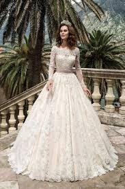 pink embroidered wedding dress discount 2017 blush pink princess wedding dress a line bateau lace