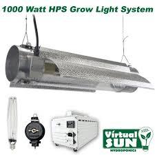 1000 watt hps light virtual sun vs1000trms hps 1000 watt cool tube grow light system