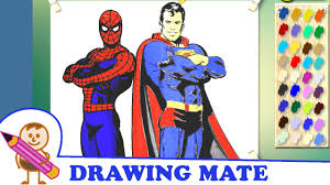 spiderman superman coloring pages sheets kolorowanki malowanki