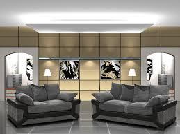 Black And Grey Sofa Set Dino 3 2 Set Black U0026 Grey Sofa Livnstyle