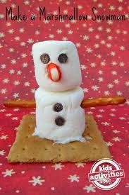 snowman marshmallows make a marshmallow snowman kids activities