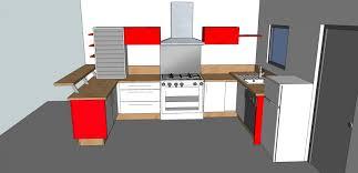 plan de cuisine en 3d plan 3d cuisine aménagée sur mesure acn à rennes