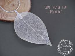 long leaf necklace images The woodland gift company women 39 s jewellery silver leaf jpg