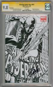 amazing spider man 601 second print sketch variant cgc 9 8
