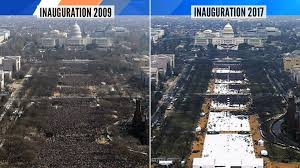 picture of inauguration crowd tweet comparing obama and trump u0027s inauguration crowd sizes is