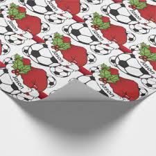 soccer wrapping paper christmas soccer wrapping paper zazzle co uk