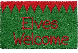 Holiday Doormat Amazon Com Door Mats Elves Welcome Mat 17