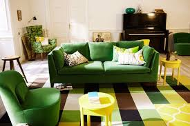 amazing living room ideas with dark green sofa with additional