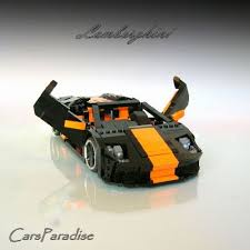 lego lamborghini car lamborghini murcielago roadster modified a lego creation by