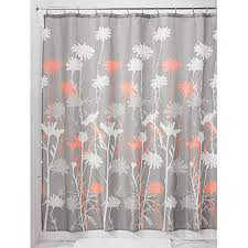 Coral And Gray Curtains Interdesign Daizy Shower Curtain Gray And Coral 72 X