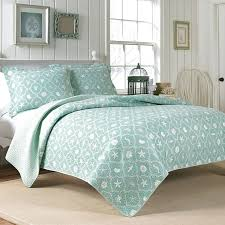 Teal King Size Comforter Sets Coastal Quilt Sets Quilts Beach Themed Duvet Sets Beach Themed